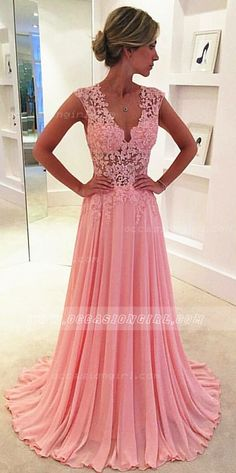 Beautiful peach evening gown