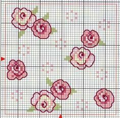 cross stitch chart - cute mini flowers