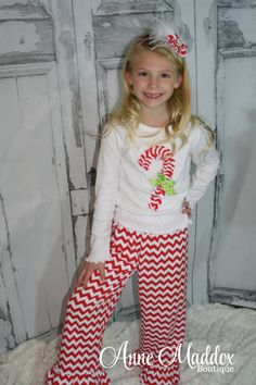 Ruffled Candy Cane Christmas Outfit, Christmas Outfit, Christmas Outfits for Girls, Toddler Christmas Shirt, Girl Christmas Shirt