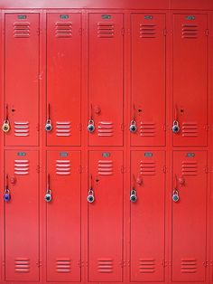 I am at my locker because the teacher let me out early when I see jake and maddie at their lockers down the hall