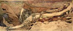 Mikhail-Vrubel-Fallen-Demon-1901-study2 - Демон поверженный — Википедия