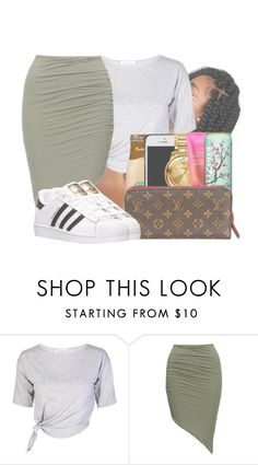 """""""I'M PETTY //"""" by royaltyvoka ❤ liked on Polyvore featuring adidas"""