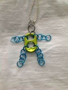 Pull Tab Man Necklace-Color Pull Tab Body.