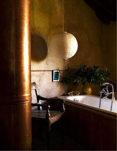 Castello di Vicarello — modern /rustic bath in Bathroom Design Luxury, Home Interior Design, Interior And Exterior, Exterior Design, Rustic Italian, Italian Home, Italian Beauty, Italian Style, Beautiful Bathrooms