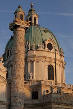 Karlskirche, Vienna, Austria - construction began 1716
