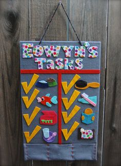 Mini Children's Felt Schedule Board  Daily Tasks or by artsymommas, $40.00