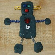 play dough robot