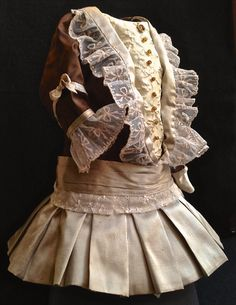 Antique reproduction lined Silk doll dress by DollCoutureBoutique