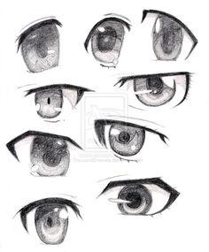 Anime Eyes male   females anime eyes by thousandenemies fan art manga anime traditional ...
