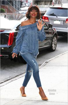 New Looks and Trends. - Luxe Fashionably Ideas- New Trends - Luxe Fashionably Ideas- New Trends Casual Outfits, Cute Outfits, Fashion Outfits, Fashion Trends, Denim Outfits, Kelly Rowland Style, Modest Summer Fashion, Denim And Diamonds, All Jeans