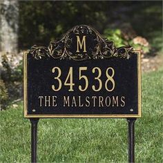 Decorative House Number Signs decorative house number signs 74 best decorative address house numbers address numbers best designs Decorative Lawn Address Sign With Elegant Monogram Option Personalize With House Number And Street