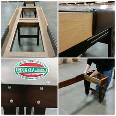 The New Rock Ola Shuffleboard Table Is Available In 12, 14, 16, 18, 20 And  22 Foot Sizes And Each Comes With Eight Stainless Steel Pucks, One Can Ou2026