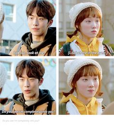 Weightlifting Fairy Kim Bok Joo // He makes my heart so happy 😭❤ Weightlifting Fairy Kim Bok Joo Funny, Weightlifting Kim Bok Joo, Korean Drama Funny, Korean Drama Quotes, K Drama, Drama Fever, Weighlifting Fairy Kim Bok Joo, Korean Actors, Korean Dramas