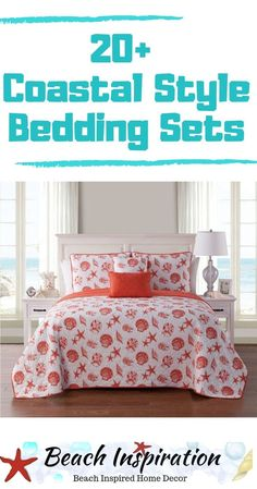 20 Coastal Bedding Sets For Beach Themed Bedroom Coastal Bedding Sets For Beach Themed Bedroom. Check out these beautiful beach bedding sets perfect for bringing a little ocean inside your home. Beach Bedding Sets, Coastal Bedding, Coastal Bedrooms, Comforter Sets, Luxury Bedding, Beach House Bedroom, Beach House Decor, Home Bedroom, Bedroom Themes
