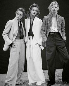Editorial by @georgesantoni in this months @marieclaireau styled by @chloebuttenshaw   Left model wears the Williamsburg Blazer in Grey & Grayson Pant, pre-order now. Right   Model wears Williamsburg Blazer in Houndstooth, Coming Soon #viktoriaandwoods