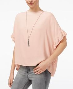 WILLIAM RAST Jett Flutter-Sleeve Top | macys.com
