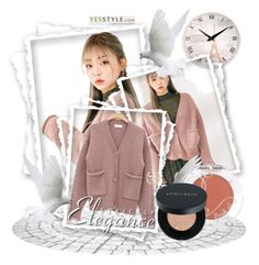 """Yesstyle"" by mary-turic ❤ liked on Polyvore featuring chuu, Winter, ootd, cardigans and yesstyle"