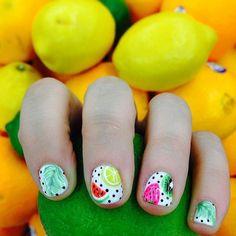 Spring Nail Art for Kids  Glossy Nails by Makeup Tutorials at http://www.makeuptutorials.com/nail-designs-spring-nail-art