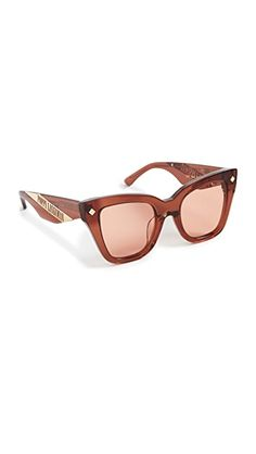 Poppy Lissiman Dae Sunglasses | SHOPBOP Casual Attire, Other Accessories, Cat Eye, Light Colors, Poppy, Mirrored Sunglasses, Lenses, Style, Swag