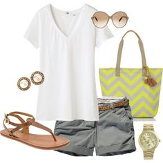Perfect casual outfit for doing errands in the summer... Hey you still want to look cute even if you are doing errands!