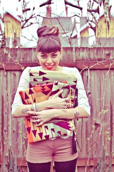 Pendleton DIY clutches make pretty girls happy