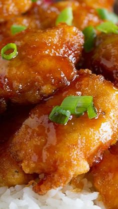 Sweet and Sour Chicken Recipe ~ So good... Chicken is coated in a sweet and sticky sauce and baked to perfection