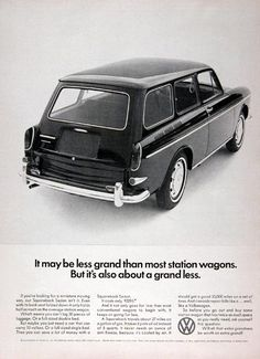1967 Volkswagen Squareback Wagon Ad - USA by Five Starr Photos ( Aussiefordadverts), via Flickr ( also my first car)