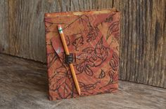 Forest Floor  5.5 x 7.5 Handcrafted Leather by TravelingChariot, $48.00