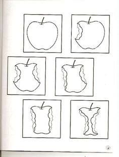 Plak in de goede volgorde, free printable Preschool Apple Theme, Apple Activities, Preschool Crafts, Fruit And Veg, Fruits And Vegetables, Fall Crafts, Diy And Crafts, Apple Tea, Fruits Images