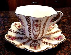 Fine English Bone China Tea Cup and Saucer Rosina England