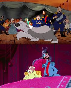 Has anyone else ever noticed this? The King and the Duke from Cinderella in The Little Mermaid.