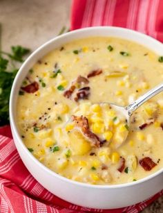Personalized Graduation Gifts - Ideas To Pick Low Cost Graduation Offers Cozy Corn Chowder, Made With Tender Potatoes, Salty Bacon And Sweet Corn Perfect As A Weeknight Meal Crockpot Directions Too Corn Chowder Soup, Chicken Corn Chowder, Corn Chowder With Bacon, Best Corn Chowder Recipe, Slow Cooker Corn Chowder, Pioneer Woman Corn Chowder Recipe, Chicken Chili, Summer Corn Chowder, Kitchen