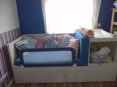 IKEA daybed + changing table = crib/toddler bed/changing station/guest bed