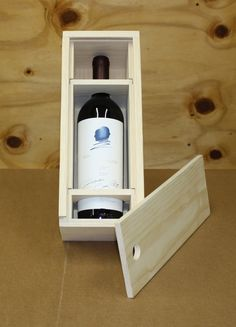 Items similar to Wine Box - Single Bottle on Etsy Wine Bottle Display, Wine Bottle Holders, Wine Bottle Crafts, Wooden Wine Boxes, Wooden Gifts, Wood Boxes, Wood Wine Racks, Bottle Box, Wine Decor