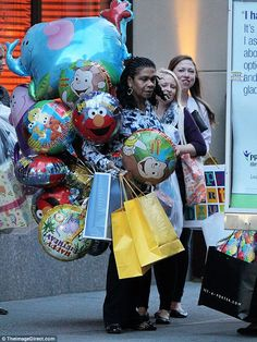 Serious swag: Little Charlotte's bash included plenty of balloons and numerous birthday gifts