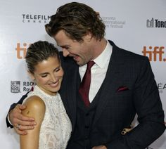 Chris Hemsworth and Elsa Pataky Real Couples, Celebrity Couples, Cute Couples, Chris Hemsworth, Elsa Pataky, Fair Lady, Hot Actors, Beautiful Couple, My Man