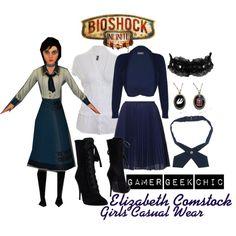 """Bioshock - Elizabeth Comstock"" by gamer-geek-chic on Polyvore"