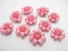 fmo flower beads E by ThirdEarDear on Etsy, $1.30