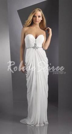 Robe de bal blanche longue