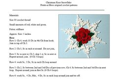 Christmas Rose Snowflake is a one page pdf crochet pattern with blocking template page included (two pages). It was created by Tam of Petals N More. This is a beginner to intermediate skill level pattern. Finished snowflake is approximately 5.5 inches across.  Pattern is protected by copyright laws, however, unlimited items may be made from these patterns for gifts, personal use or to be sold. If made for multiple sales, an attached tag saying Made from a Petals N More Pattern would be…