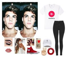 """""""Chilling With Gray!!"""" by be-robinson ❤ liked on Polyvore featuring Dolan, Topshop, Lime Crime, Converse and Casetify"""