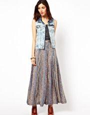 Warehouse Maxi Skirt In Print