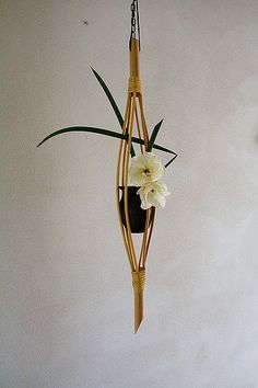 Result of today's workshop, making my own bamboo holder for ceramic container made by my good friend.
