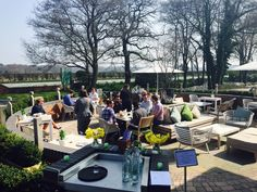 Our delegates enjoying their lunch. #sun #hotel #conference #alfresco #knutsford
