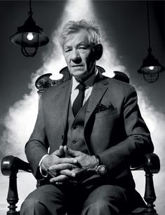black white 13 Black and white making pics a bit more mysterious photos) Ian Mckellen Gandalf, Sir Ian Mckellen, Hot Actors, Actors & Actresses, Yoga, Like A Sir, The Secret History, Hollywood Actor, Hollywood Stars