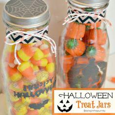Halloween Treat Jars with Martha Stewart Crafts