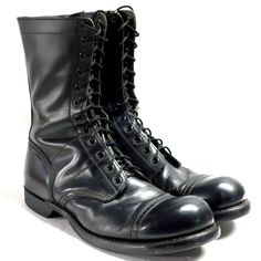 Original Corcoran Black Leather Field Boots With Vibram Sole Size 9.5 D Customers First Boots Surplus
