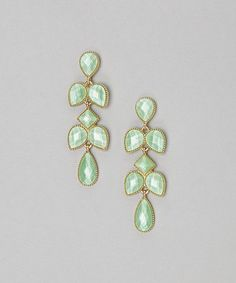 Mint Spring Earrings by Natasha Accessories