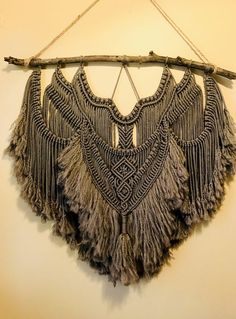 "Large 36"" Macrame Wall Hanging by KatieUnraveled on Etsy https://www.etsy.com/au/listing/550542302/large-36-macrame-wall-hanging"