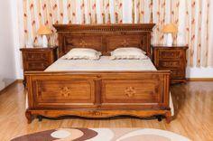 pat - Mobila / Mobilier Dormitor Dominus clasic lemn cu intarsie    RON0.00   #Mobila